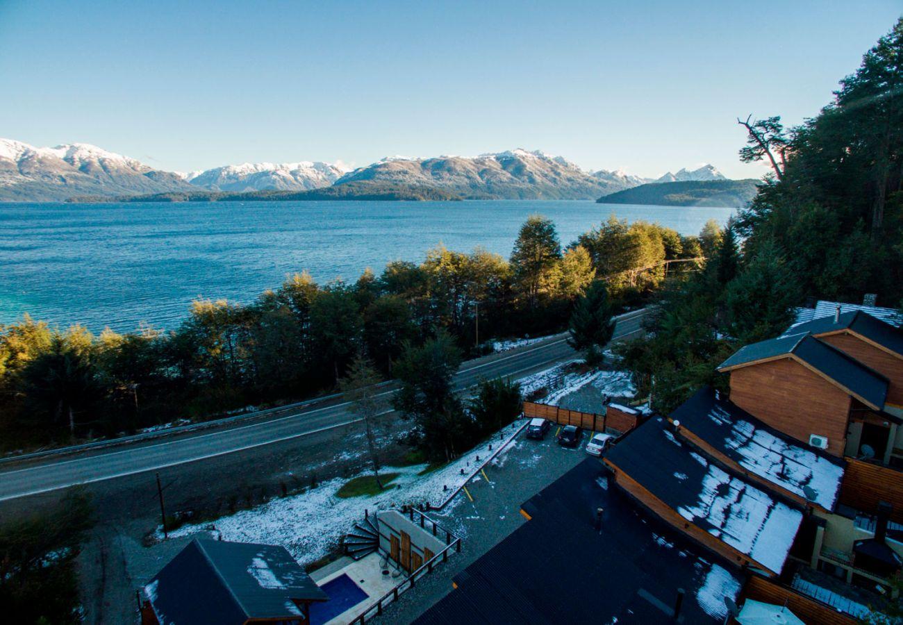 Vista lago y cordillera BOG Atardeceres del Lago 3 Villa La Angostura