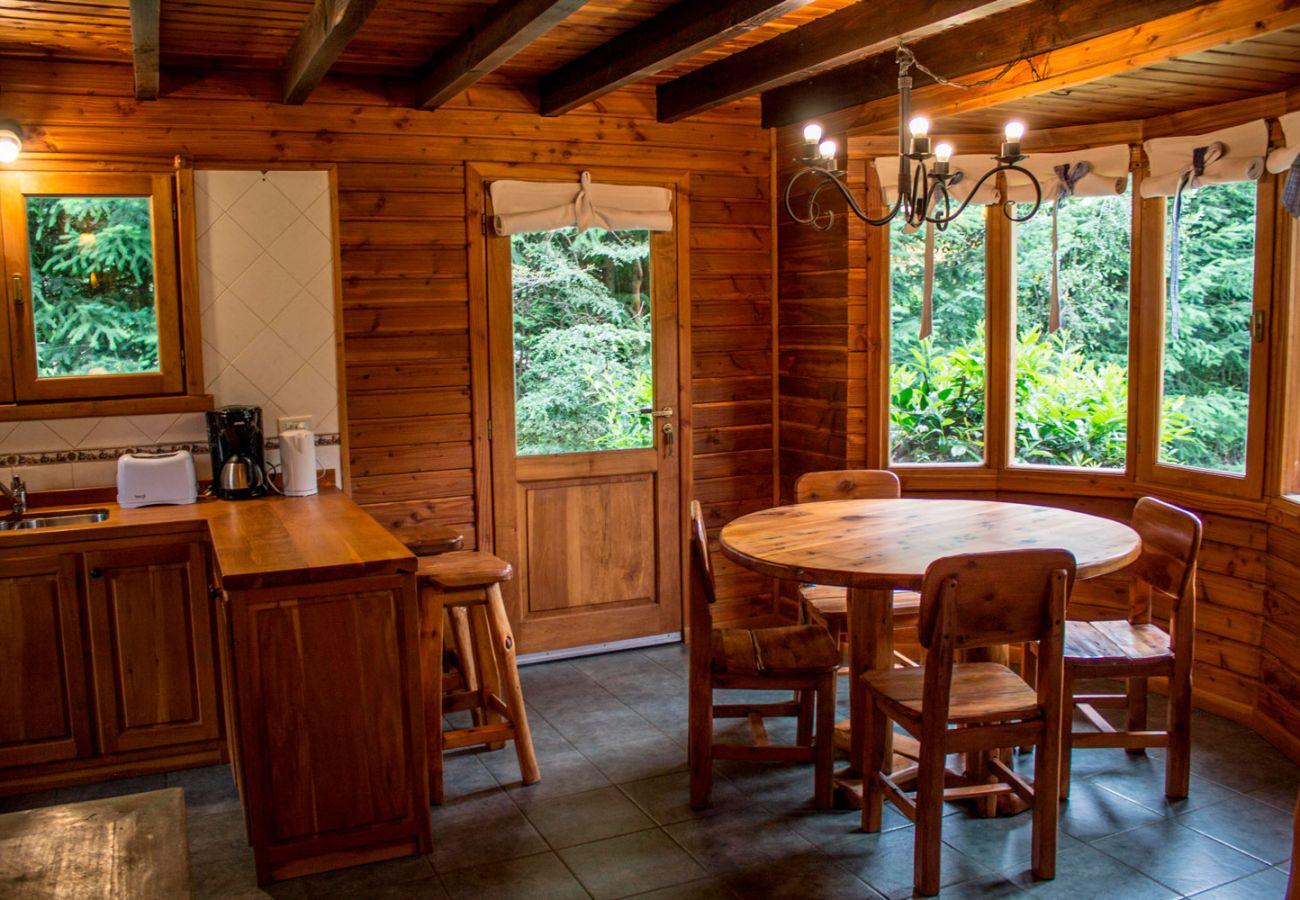 Comedor con vista al parque BOG Patagon Dreams Villa La Angostura
