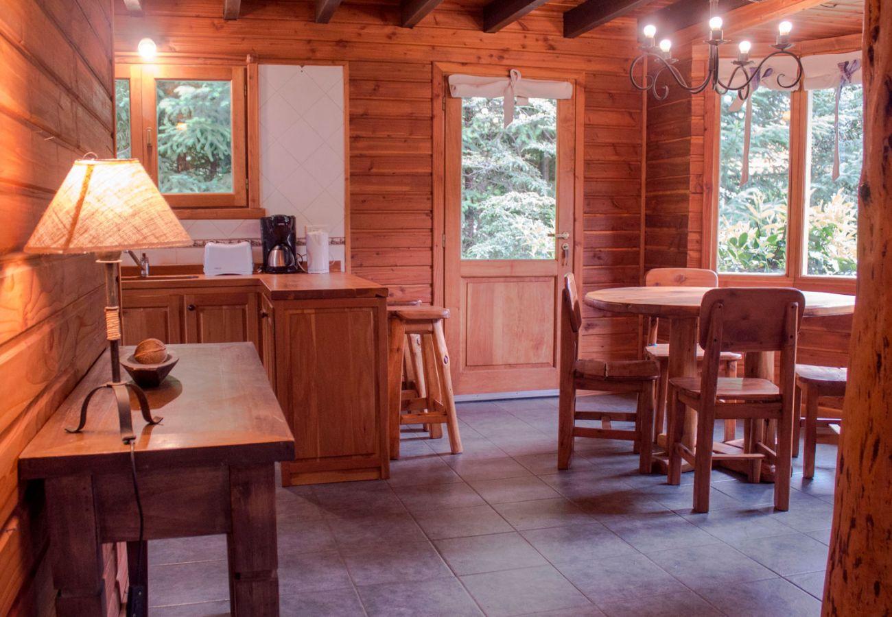 Comedor con cocina integrada BOG Patagon Dreams Villa La Angostura